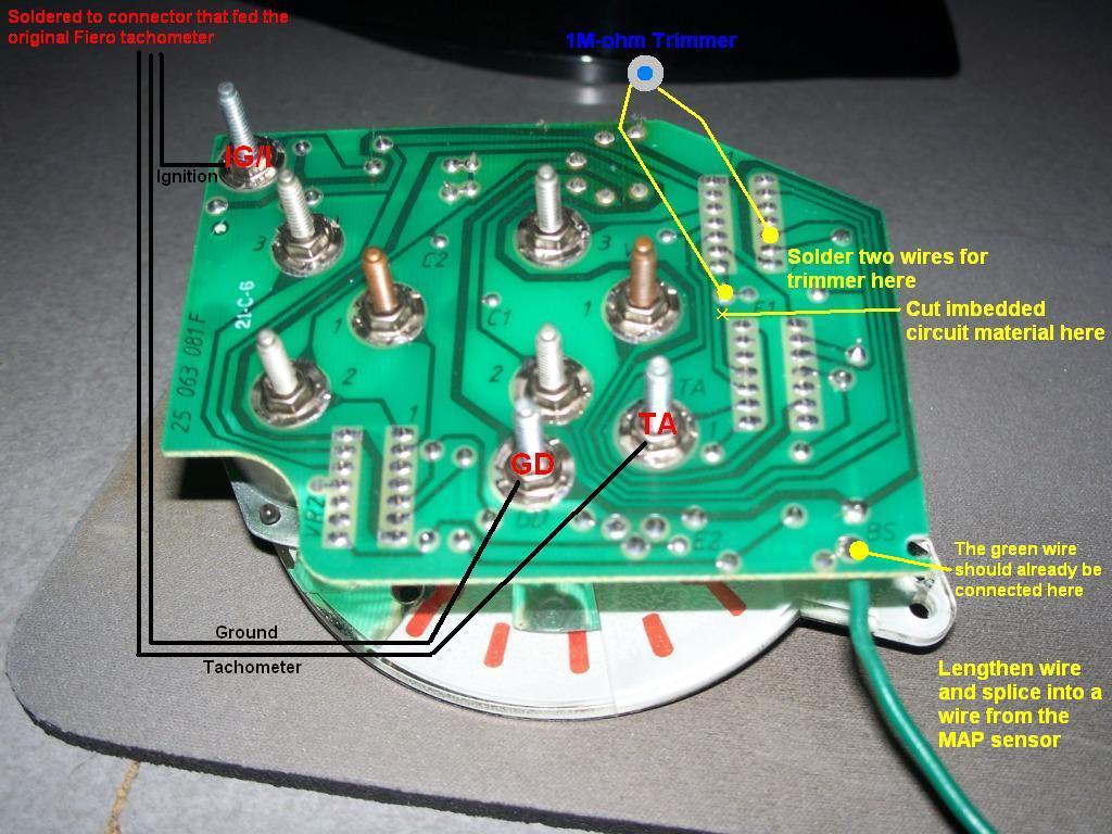 How to install Sunbird Turbo Tachometer in a Fiero - Pennock\'s Fiero ...