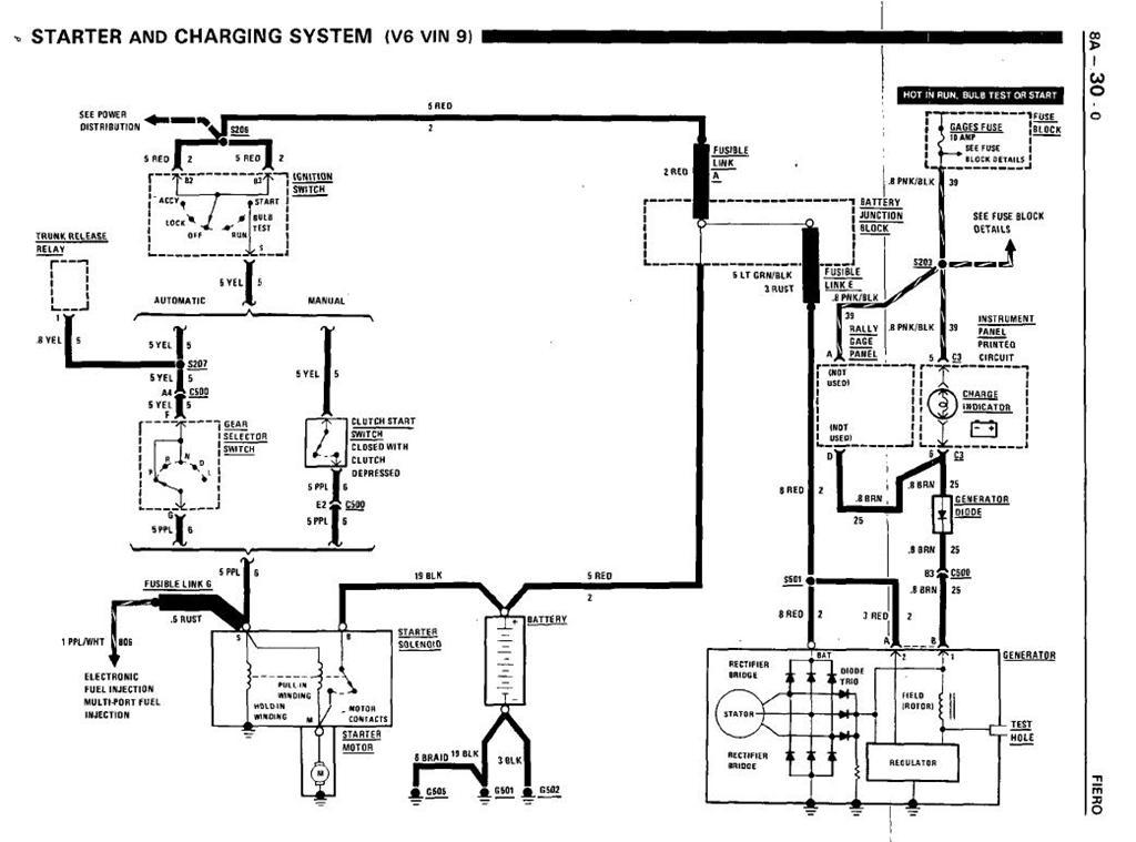 87 Fiero Gt No Crank Pennock's Forumrhfieronl: Fiero Starter Wiring Diagram At Elf-jo.com