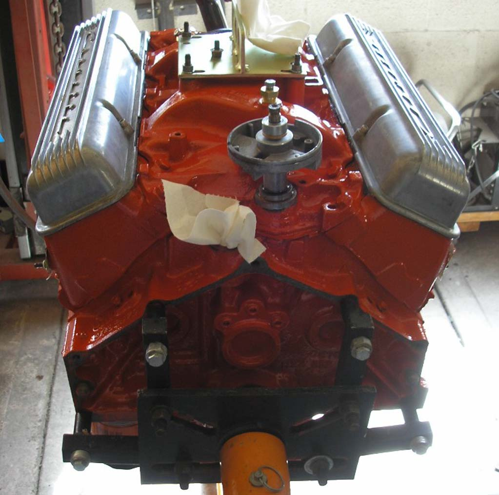 Pennocks Fiero Forum Resto Modding A 1966 Corvette Coupe 350 Chevy Alternator Wiring Diagram Http Wwwhotrodderscom Then It Was Transferred To An Engine Dolly That We Modified So Could Mate The With Transmission While On