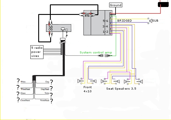 Sophisticated pioneer subwoofer wiring diagram gallery best image pennock s fiero forum setting up an aftermarket amp and sub by pioneer surround sound wiring diagram swarovskicordoba Gallery