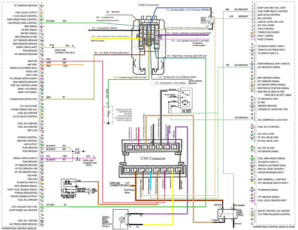 complete_wiring wiring obdii, how to get started? pennock's fiero forum 06 Charger Wiring Diagram at nearapp.co