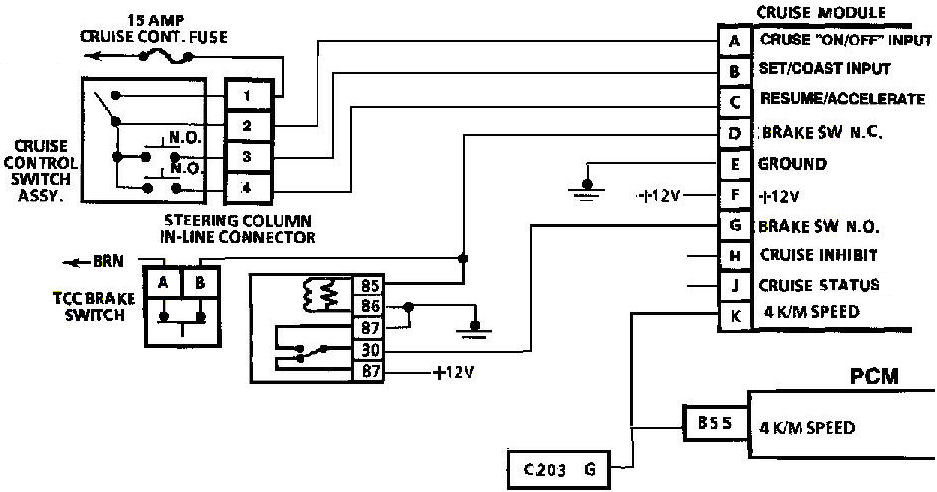 electronic cruise control issues pennock s fiero forum rh fiero nl GM Cruise Control Wiring Diagram Electrical Wiring Diagram 1992 Honda Steering