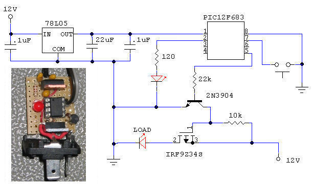 picflash diy silent adjustable rate flasher relay schematic & schem for 16 12v flasher circuit diagram at sewacar.co