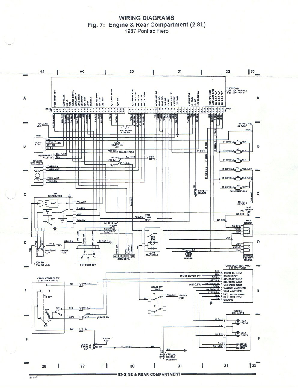 radeo for 1984 pontiac fiero fuse box 85 fiero fuse box