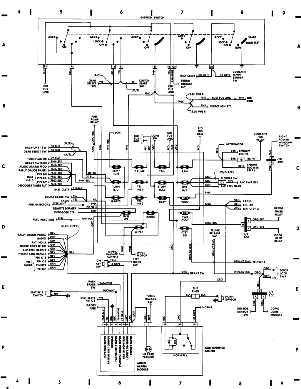Fiero Wiring Diagram And Schematics Cruise Control