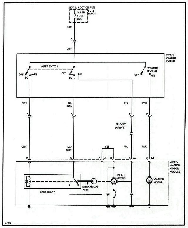 [DIAGRAM_38IU]  2 speed wipers now only one speed-high. Why? - Pennock's Fiero Forum | Gm 2 Speed Wiper Motor Wiring Diagram Delay |  | Pennock's Fiero Forum