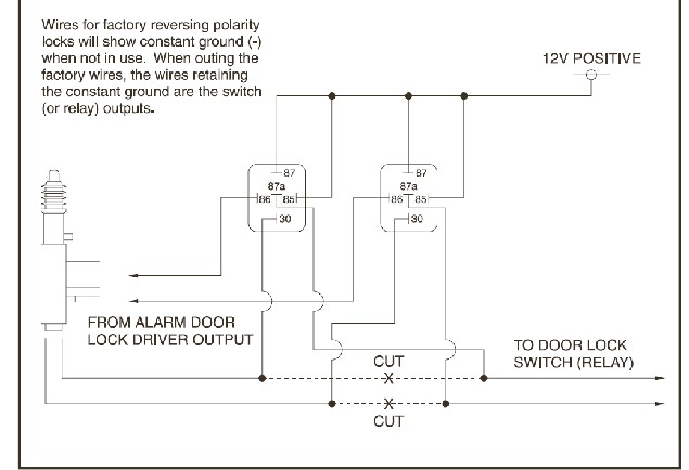 reverse polarity door lock wiring reverse image linear actuator schematic pennock s fiero forum on reverse polarity door lock wiring
